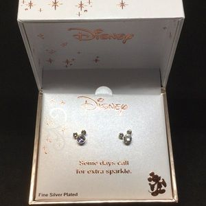NWT Disney mouse post  silver plated earrings 💐